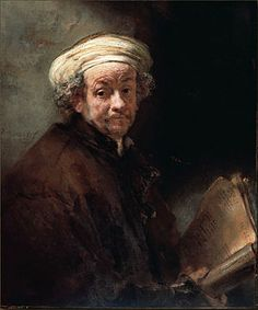 Self Portrait as the Apostle Paul - Rembrandt.  1661.  Oil on canvas.  35 3/4 x 30 1/4.  Rijksmuseum, Amsterdam, The Netherlands.