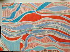 Lines, colours.