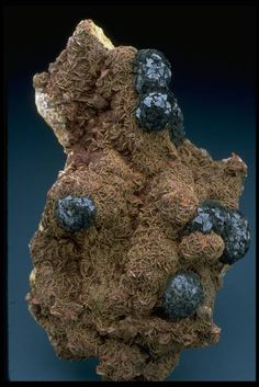 A specimen of cronstedtite from Romania. Part of the National Mineral Collection.