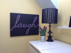 Laugh Painted Canvas