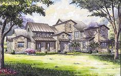 Remarkable Hill Country House Plan - 67129GL | Architectural Designs - House Plans