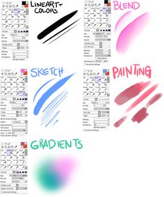 Paint Tool Sai brushes : Photo