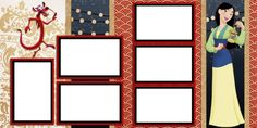 Double Layout Disney's Mulan Scrapbook pages! We offer designs in both Physical AND digital formats. Just add photos!
