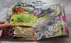 Art Journal with Friends, a unique art journal and real SCRAP book by Gabriele, with the how and the why at this article in Unruly PaperArts. Many stamps from Rubber Dance