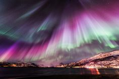 Amazing Aurora Borealis,over Nordreisa, Troms county, Northern Norway photo credit: ©Tommy Richardsen Aurora Borealis, Beautiful Sky, Beautiful Landscapes, Northen Lights, To Infinity And Beyond, Natural Phenomena, Science And Nature, Night Skies, Wonders Of The World