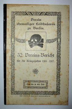 Totenkopf Danzig Leibhusaren 1918 Bericht Kriegsjahre 1914-1917! Original! | eBay