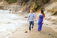 amazing beachy engagement session by Crystal Nicole Photography.