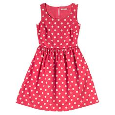 Button Spot Sleeveless Cotton Slub Dress | Cath Kidston |