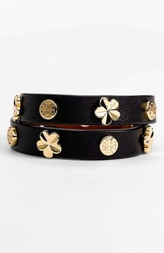 Tory Burch Stud Leather Wrap Bracelet | Nordstrom