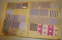 book of printed chemise and dress fabrics, circa 1860, approx. 230 pages covered with mainly roller-printed cottons and some gauzes KT « Trouvais