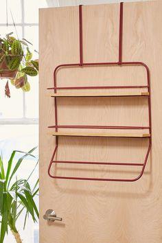 Over-The-Door Tiered Shelves Storage Rack