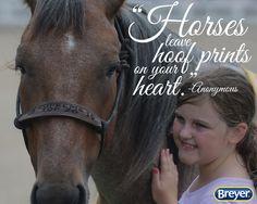 #Horses leave #hoofprints on your #heart.