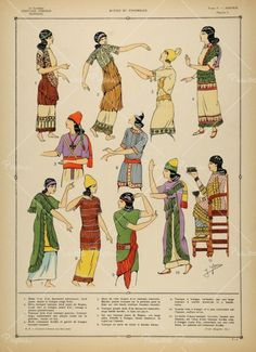 Assyrian costumes for women.