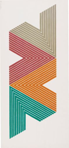 Frank Stella // Empress of India II, from V series // 1968 // Geometric Abstraction Willem De Kooning, Gfx Design, Design Art, Jackson Pollock, Contemporary Abstract Art, Modern Art, Frank Stella Art, Post Painterly Abstraction, Action Painting