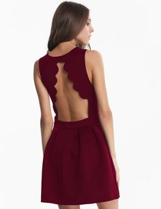 Shop Wine Red Sleeveless Backless Pleated Dress online. Sheinside offers Wine Red Sleeveless Backless Pleated Dress & more to fit your fashionable needs. Free Shipping Worldwide!