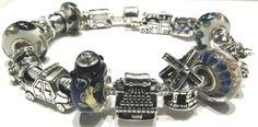 Bracciale ohm beads, beads in argento Ohm beads, vetri artigianali Glass bonbon.  Compatibile con trollbeads e pandora ecc, pagina Facebook: pianeta beads sito web www.gold-jewels-italy.com