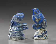 Chinese Carved Lapis Lazuli Birds Asian Sculptures, Lapis Lazuli Jewelry, Ruby Crystal, Art Carved, Stone Carving, Animal Jewelry, Gems And Minerals, Chinese Art, Rocks