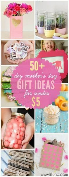 50+ different Mother's Day gift ideas for under just $5