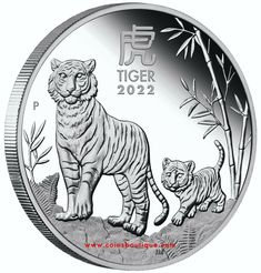 Bullion Coins, Silver Bullion, Mint Shop, Buy Gold And Silver, Year Of The Tiger, Zodiac Calendar, Tiger Design, Proof Coins, Effigy
