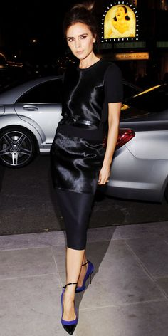 Victoria Beckham at #LFW  #BestDressed wearing an outfit from her latest AW13 collection London Fashion Week