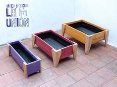 Popular top new projects for wood pallet reusing 19 Large Wooden Planters, Wood Planters, Planter Boxes, Small Wood Projects, Diy Pallet Projects, Pallets Garden, Wood Pallets, Garden Deco, Garden Boxes