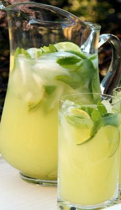 Vodka Mint Lemonade or Limeade.  TMW. 7/7/14.  Was a little weak for me, needs more than the recommended lemons.