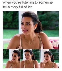 "This fake smile. 21 Kim Kardashian Memes That'll Make You Say, ""My God, I Am Kim"" Really Funny Memes, Stupid Funny Memes, Funny Relatable Memes, Haha Funny, Hilarious, Funny Shit, Funny Stuff, Kardashian Memes, Kardashian Jenner"