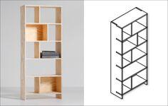 Goed idee van KARWEI: een boekenkast van één plaat underlayment. Handig om al je boeken of mooie spulletjes in op te bergen en ook nog prettig om naar te kijken.