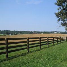 4 Rail Wood Fence Installation