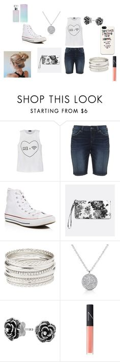 """""""Wi-Fi + moi = Happiness :) :p"""" by saanvim on Polyvore featuring Ally Fashion, Silver Jeans Co., Converse, Avenue, Charlotte Russe, Bling Jewelry, NARS Cosmetics and Calvin Klein"""