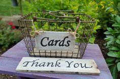 Rustic WEDDING CARD BOX, Wedding Basket, Wire Wedding Basket, Flower Girl Basket, Well Wishes, Advice Box, Wire Basket by TrashFindRedesigned on Etsy