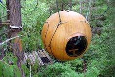 The cool Free Spirit Spheres in British Columbia, Canada