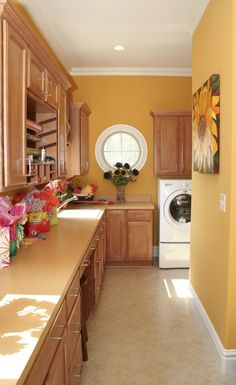 Laundry room and gift wrapping station. LOVE!!!!