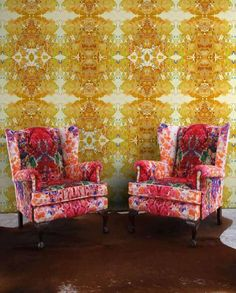 Timorous Beasties (TBeasties) oh my god those matching armchairs & wallpaper gorgeous mis-match!