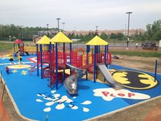 From natural wood fiber to rubber tiles and realistic turf, we have the  perfect playground surfacing solution for your playground or sports field. #safe #playground #surfaces #accessibility #eco-friendly