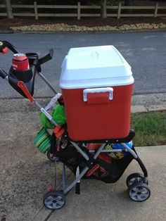 A fold-down stroller can be used for way more than just baby transport. | 21 Clever Ways To Repurpose Kids' Stuff