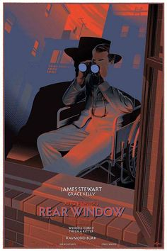 Rear Window / Alfred Hitchcock Movie Art by Laurent Durieux