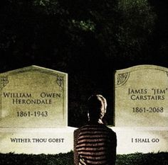 The bottom of it is what kills the most.      Aaaaand the fact that Tessa is just sitting there mourning her two loves with nobody to cry with.  It makes me so sad.  We love u Jem and Will. - Kamryn George