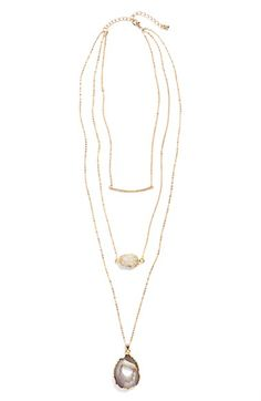 Accent Accessories Triple Row Necklace available at #Nordstrom