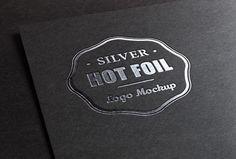 Silver Stamping Logo MockUp | GraphicBurger