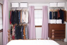 When my husband and I purchased our small ranch home, we knew the bedroom closet wasn't big enough for the both of us. So instead of having a showdown at high noon, or doing something even crazier lik