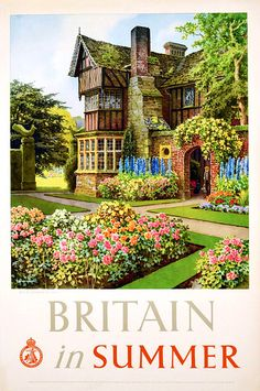 Posters Uk, Railway Posters, Illustrations And Posters, Retro Posters, Poster Vintage, Vintage Travel Posters, Vintage Advertisements, Vintage Ads, British Travel