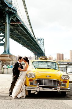 Vintage taxi shot for a Brooklyn wedding. Photography by photopinknyc.com, Wedding Planning by eapweddings.com, New York Wedding, Wedding Car, Destination Wedding, Wedding Photos, Wedding Bells, Wedding Planning, Diy Wedding, Wedding Engagement, Post Wedding