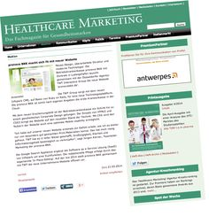 Wir sind mit dem Launch der pronova BKK Website im Fachmagazin #Healthcare Marketing