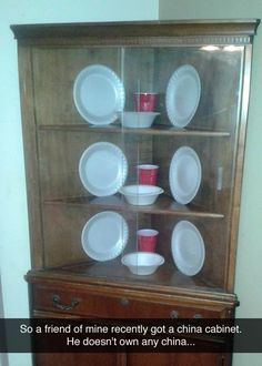 .so a friend of mine recently got a china cabinet...