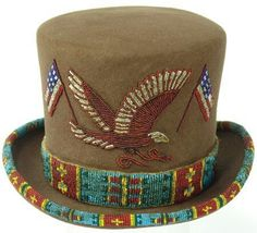 Details about Beaded Top Hat Native Indian Beadwork, Native Beadwork, Native American Beadwork, Native American Clothing, Native American Artifacts, Native American Fashion, Native Style, Native Art, Beaded Hat Bands