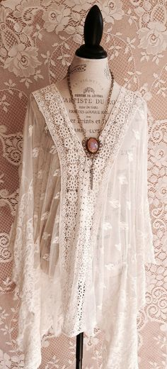 Amazing sheer embroidered beach bohemian coverup gypsy wedding tunic