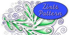 The Rainbow Elephant - Tangley Pattern – Zixts