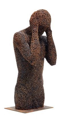 Scupture made from chains by Seo Young Deok