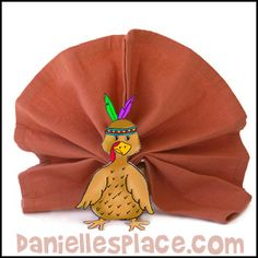 Thanksgiving Craft - Turkey Craft - Thanksgiving Turkey Place Holder Craft from www.danillesplace.com